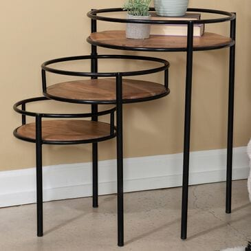 Parkerville Furniture Line Three Tiered Table in Brown, , large
