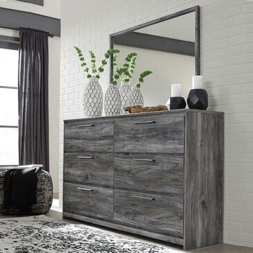 Signature Design by Ashley Baystorm Dresser and Mirror in Smokey Gray, , large