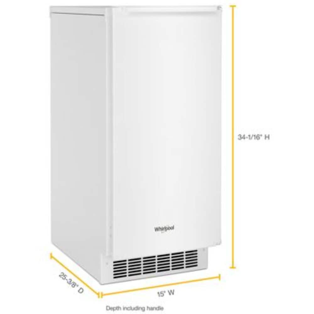 """Whirlpool 15"""" Icemaker with Clear Ice Technology in White, White, large"""