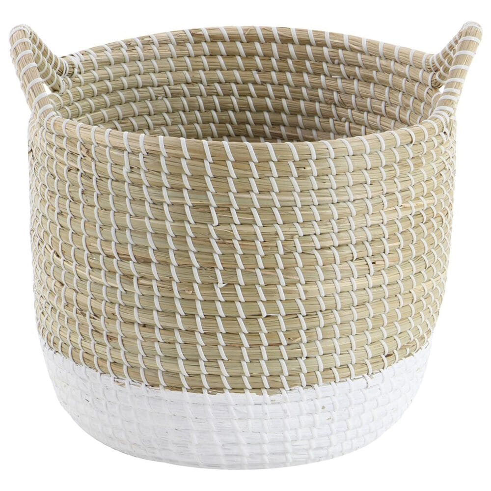 Maple and Jade Assorted Large Seagrass Baskets in Brown (Set of 3), , large