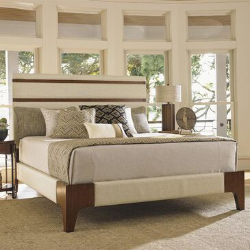 Tommy Bahama Home Island Fusion Queen Panel Bed in Oyster Shell, , large