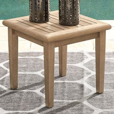 Signature Design by Ashley Gerianne Square End Table in Grayish Brown, , large