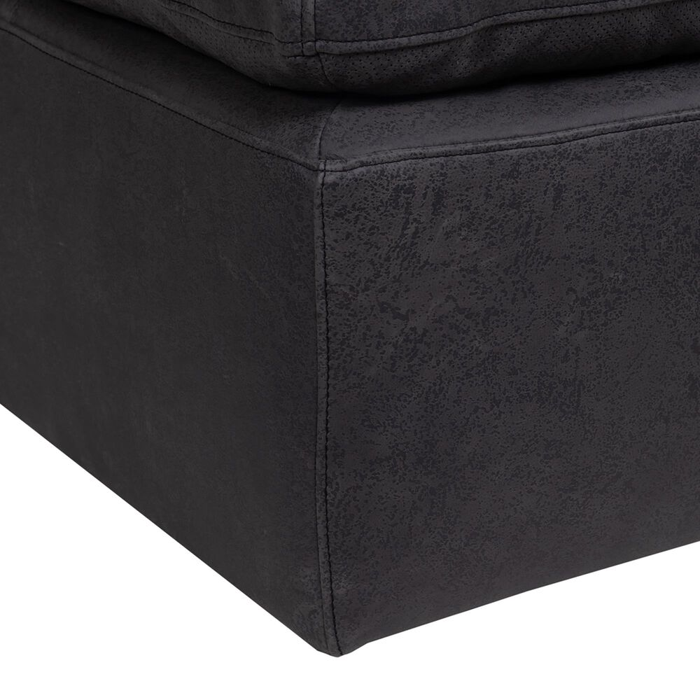 Moe's Home Collection Clay Ottoman in Black, , large