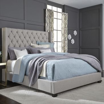 Standard Westerly Queen Upholstered Panel Bed in Stone, , large