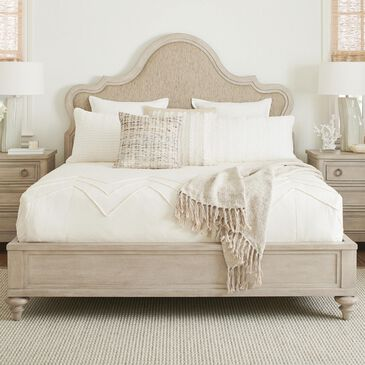 Lexington Furniture Malibu Zuma King Upholstered Panel Bed in Warm Taupe, , large