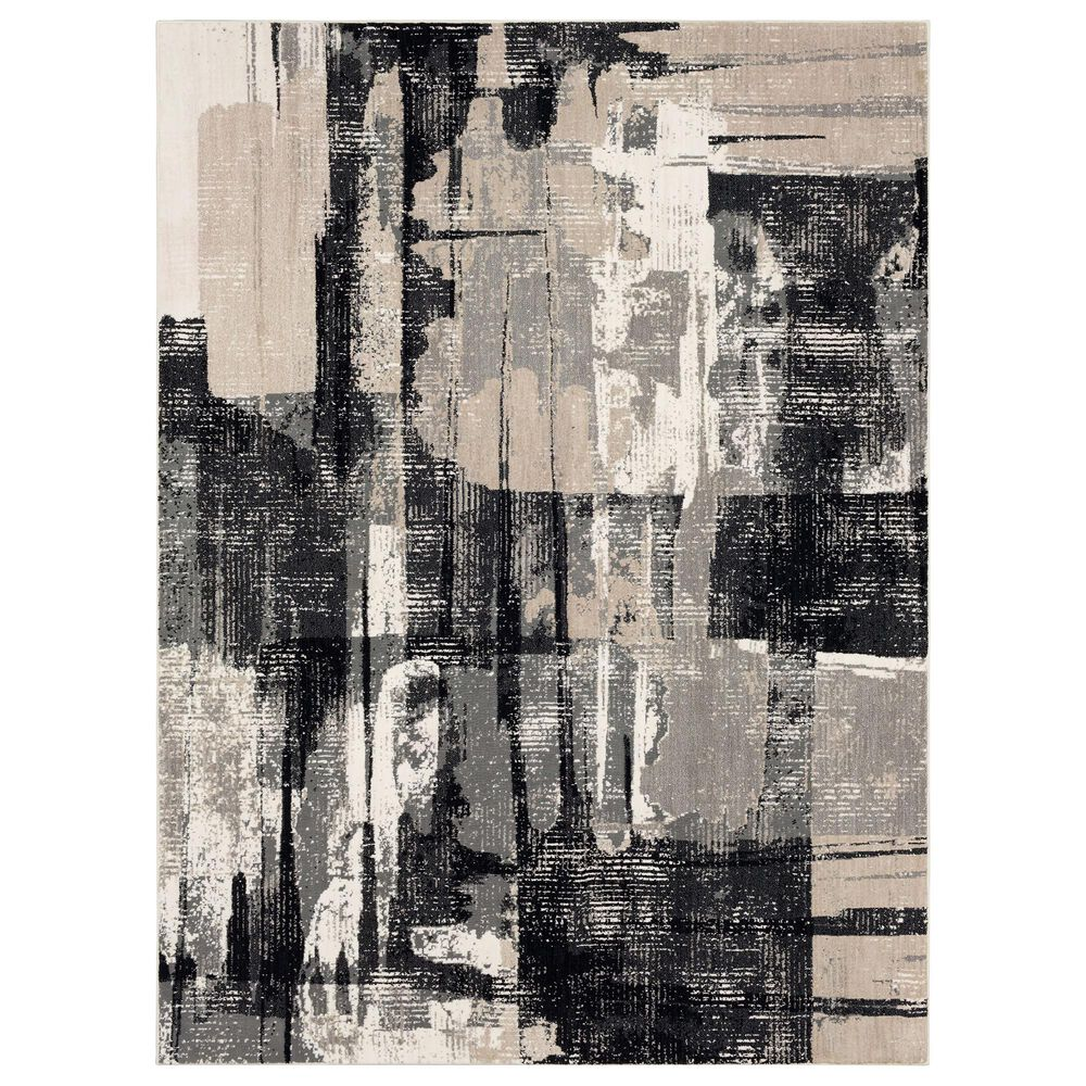 "Karastan Epiphany Brush Strokes 9'6"" x 12'11"" Soot Area Rug, , large"