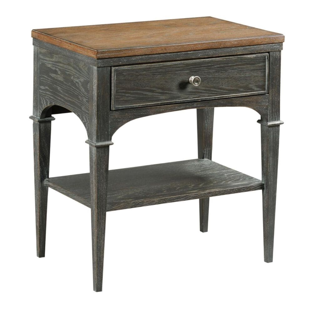 American Drew Ardennes Bedside Table in Black Forest and Brindle, , large