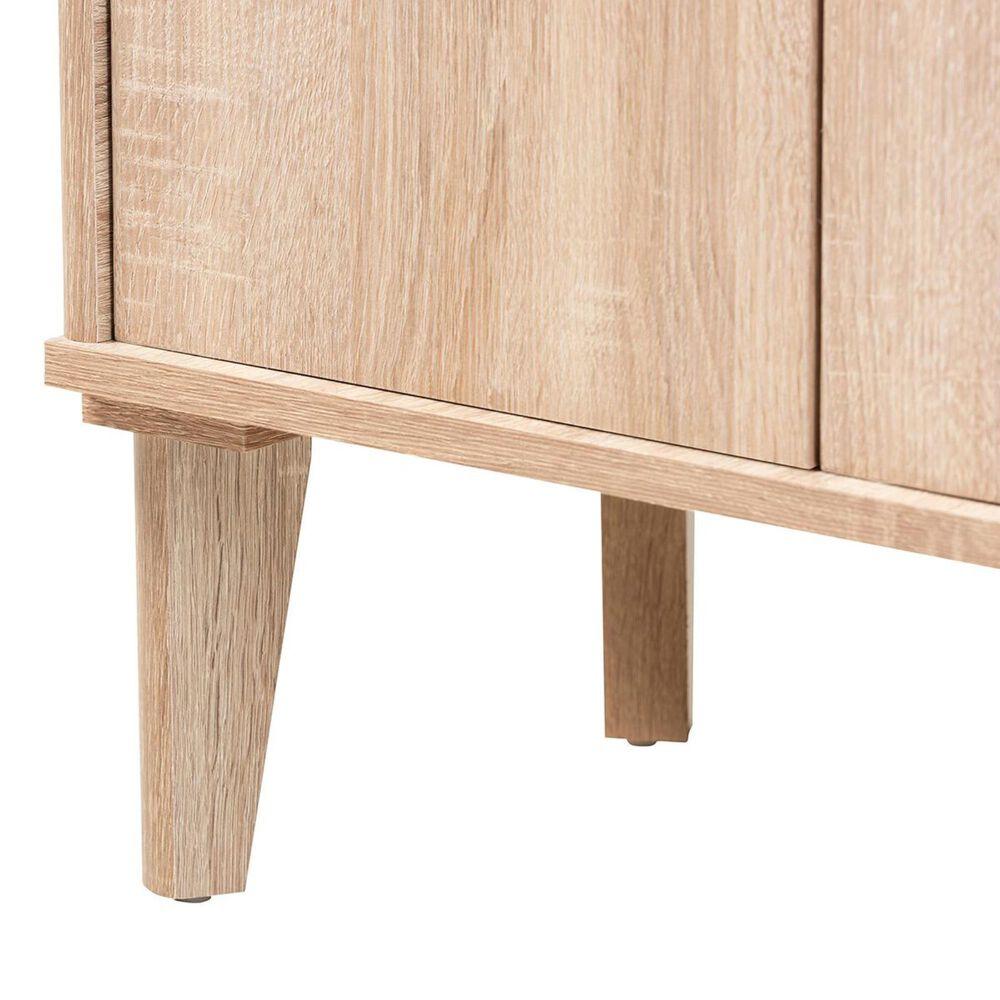 """Baxton Studio Fella 46"""" Entryway Shoe Cabinet in Oak/Gray, , large"""