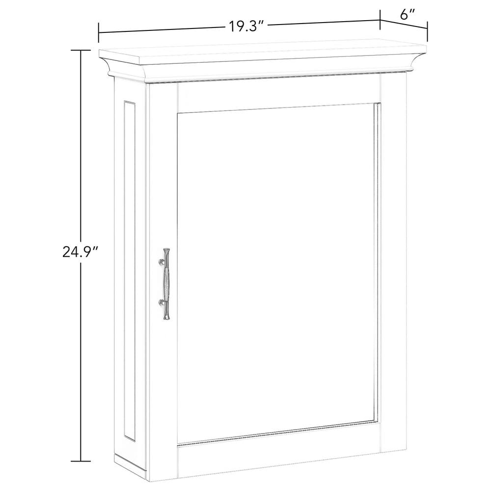 RiverRidge Home Somerset Wall Cabinet with Mirror in White, , large