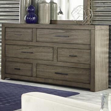 at HOME Modern Loft 6 Drawer Dresser in Greystone, , large
