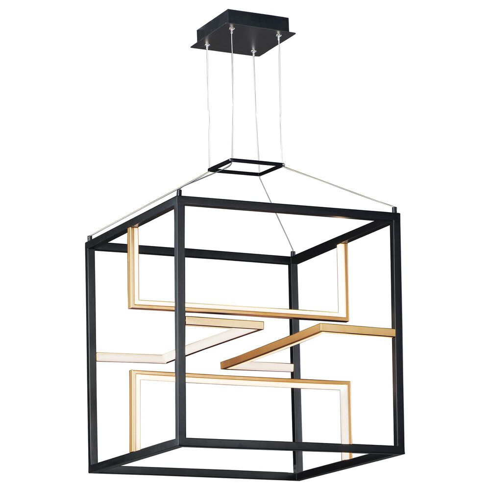 Maxim Lighting Chamber LED Pendant in Black and Gold, , large