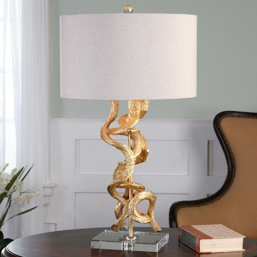 Uttermost Table Lamp in Bright Gold, , large