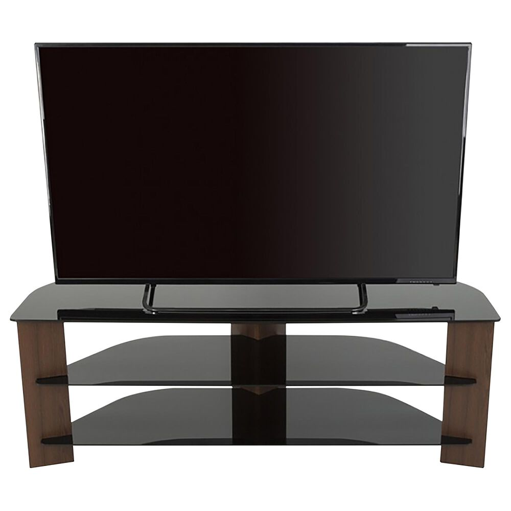 "AVF Group Varano 55"" Corner TV Stand in Walnut and Black, , large"