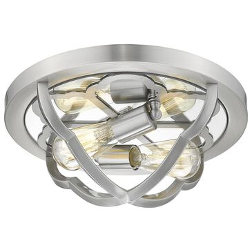 Golden Lighting Saxon 2-Light Flush Mount in Pewter, , large
