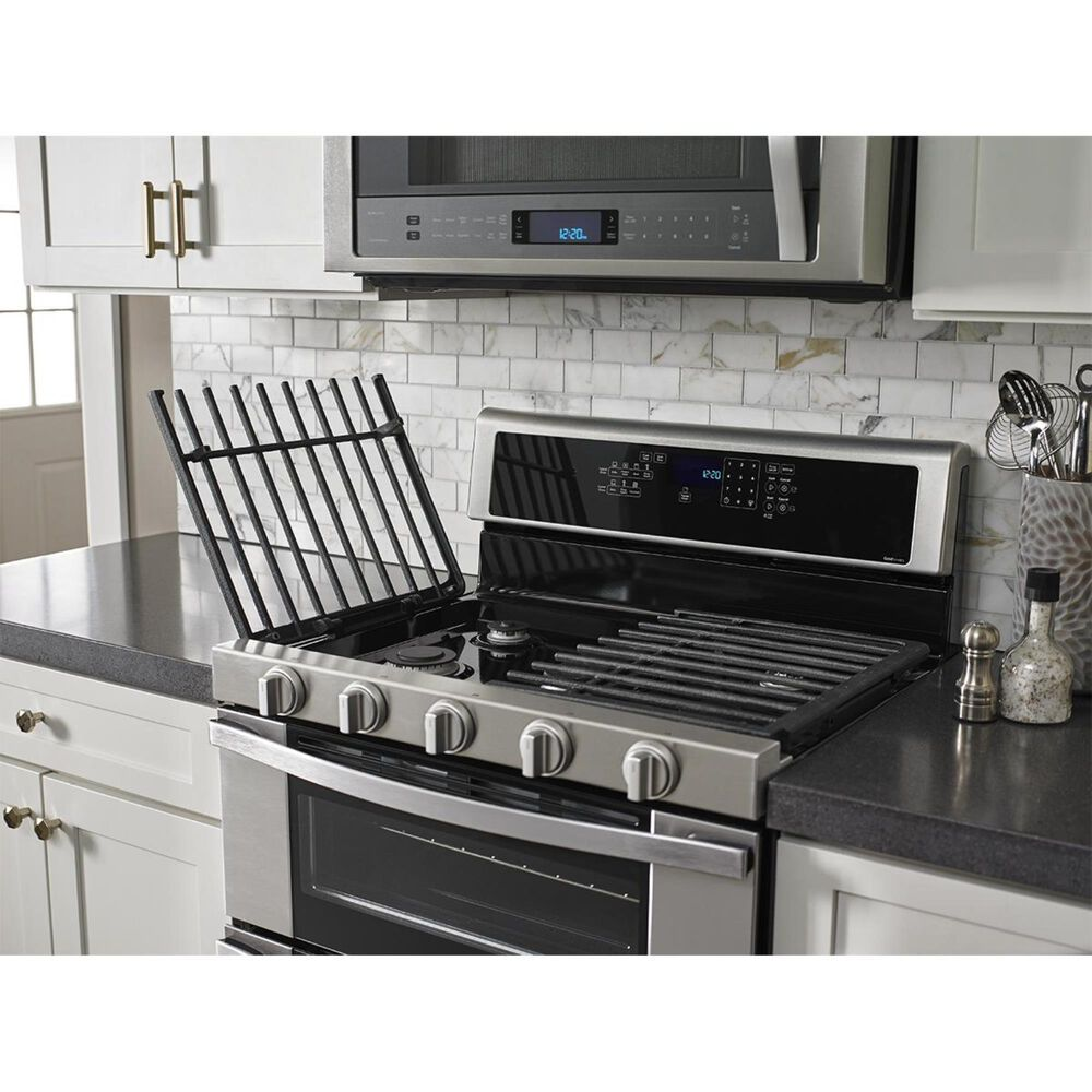 Whirlpool 6.0 Cu. Ft. Gas Double Oven Range with Center Oval Burner in Stainless Steel, , large