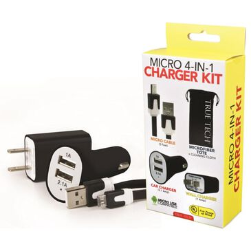 True Tech Micro 4-in-1 Charger Kit, , large
