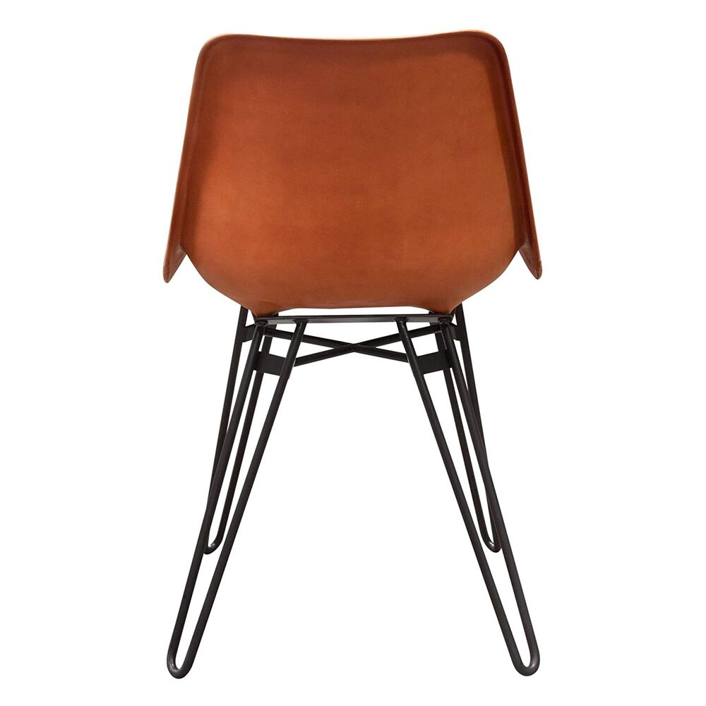 Diamond Sofa Camden Dining Side Chair in Black and Orange, , large