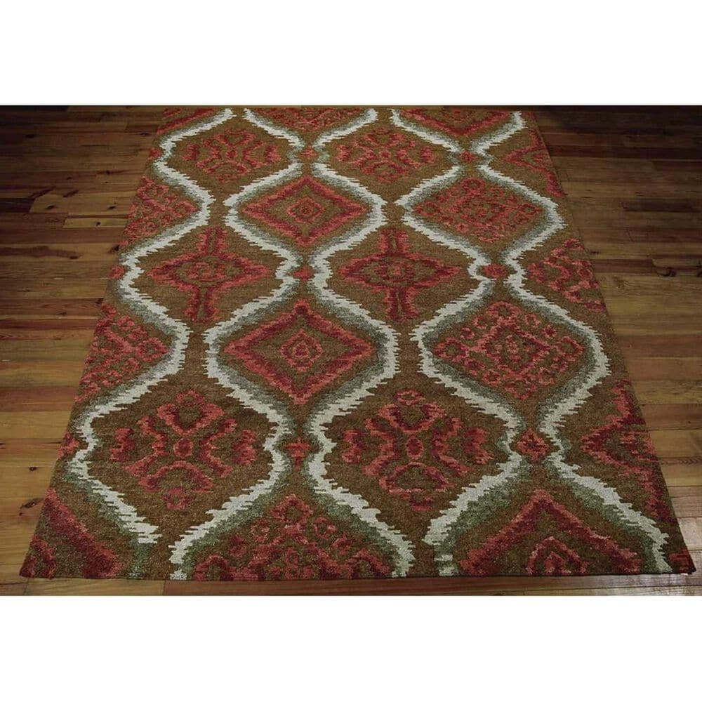 "Nourison Tahoe Modern MTA06 7'9"" x 9'9"" Brown and Red Area Rug, , large"