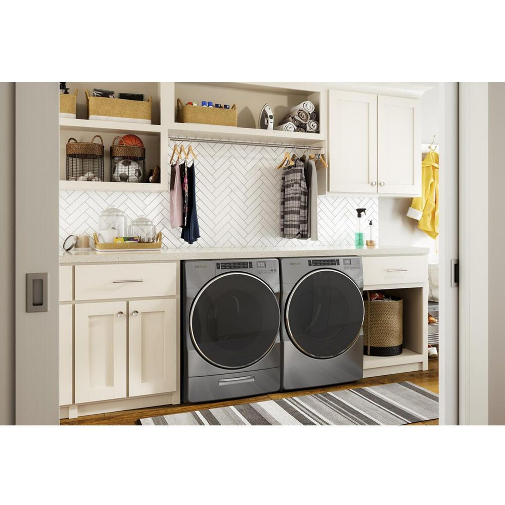 Whirlpool 7.4 Cu. Ft. Electric Dryer with Steam in Chrome Shadow, , large