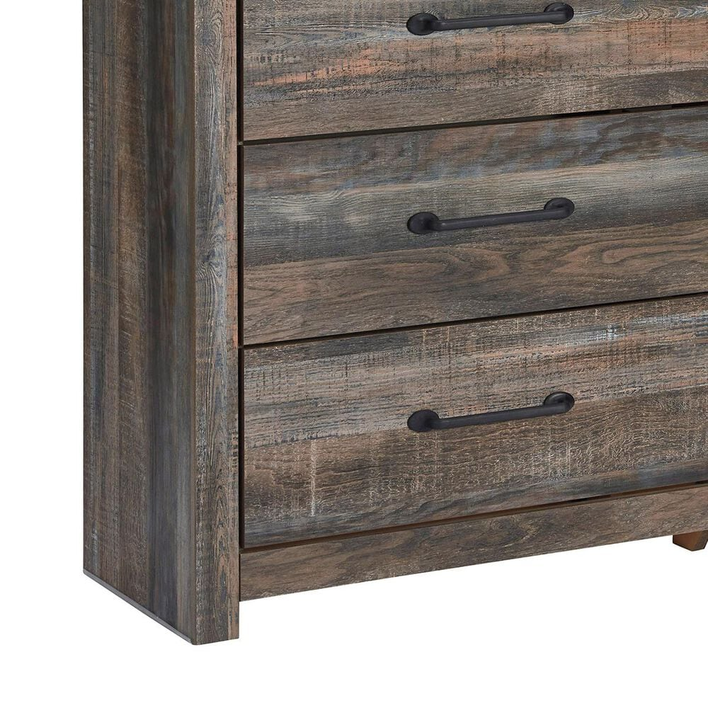 Signature Design by Ashley Drystan 4 Piece Queen Panel Bedroom Set in Brown Rustic, , large
