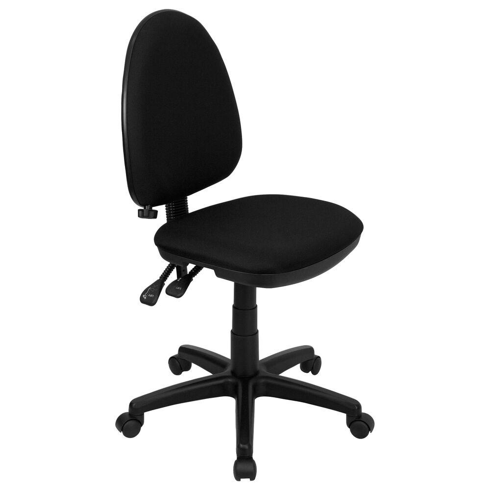 Flash Furniture Swivel Task Chair in Black, , large