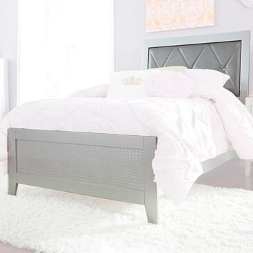 Signature Design by Ashley Olivet California King Headboard and Footboard in Silver, , large