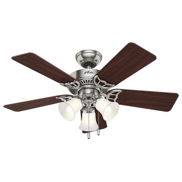 "Hunter Southern Breeze 42"" Ceiling Fan with Light in Brushed Nickel, , large"