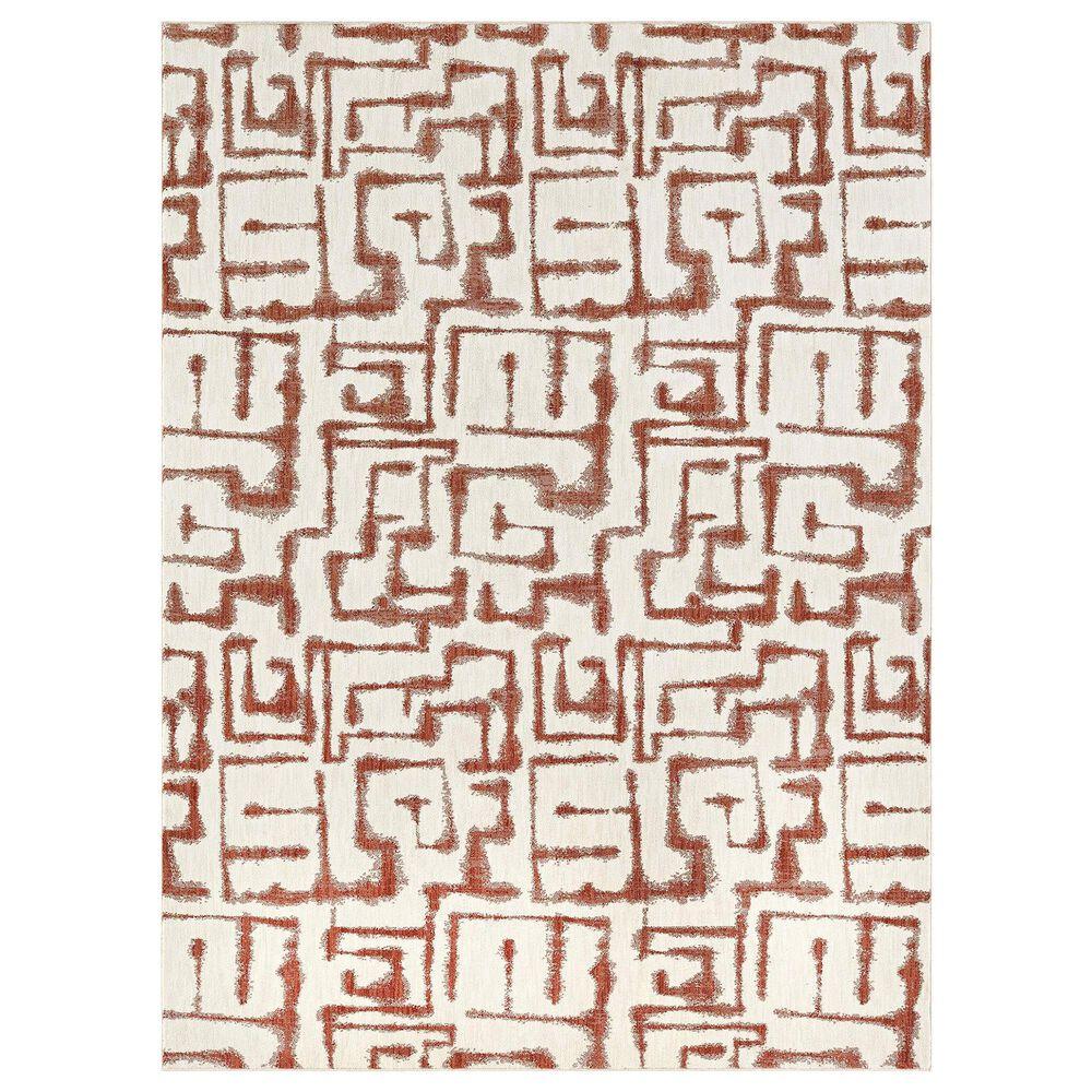 "Karastan Soiree Sazerac 91966-97031 8"" x 11"" Rose Gold Area Rug, , large"