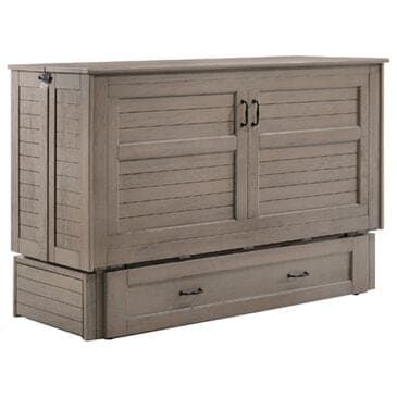 New Day Furniture Poppy Murphy Cabinet Bed in Brushed Driftwood, , large