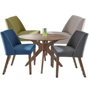 Belle Furnishings Space Saver 5-Piece Dining Set in Satin Walnut, , large