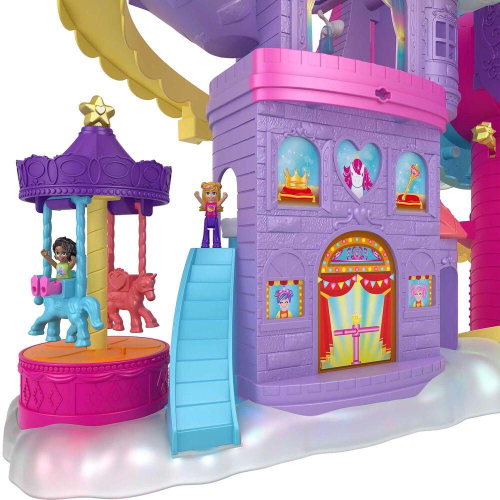 Polly Pocket Rainbow Funland Theme Park Playset, , large