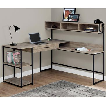 Monarch Specialties Computer Desk in Dark Taupe and Black , , large