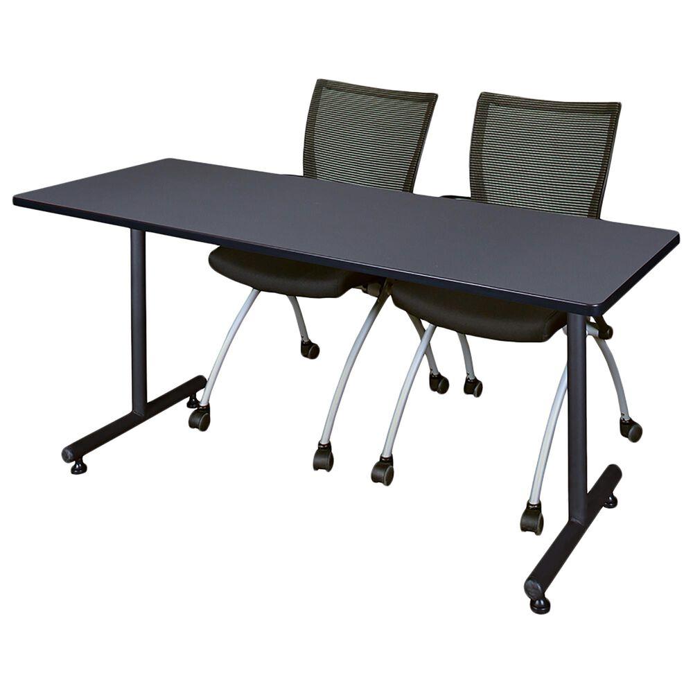 "Regency Global Sourcing Kobe 60""x 24"" Training Table in Grey, , large"