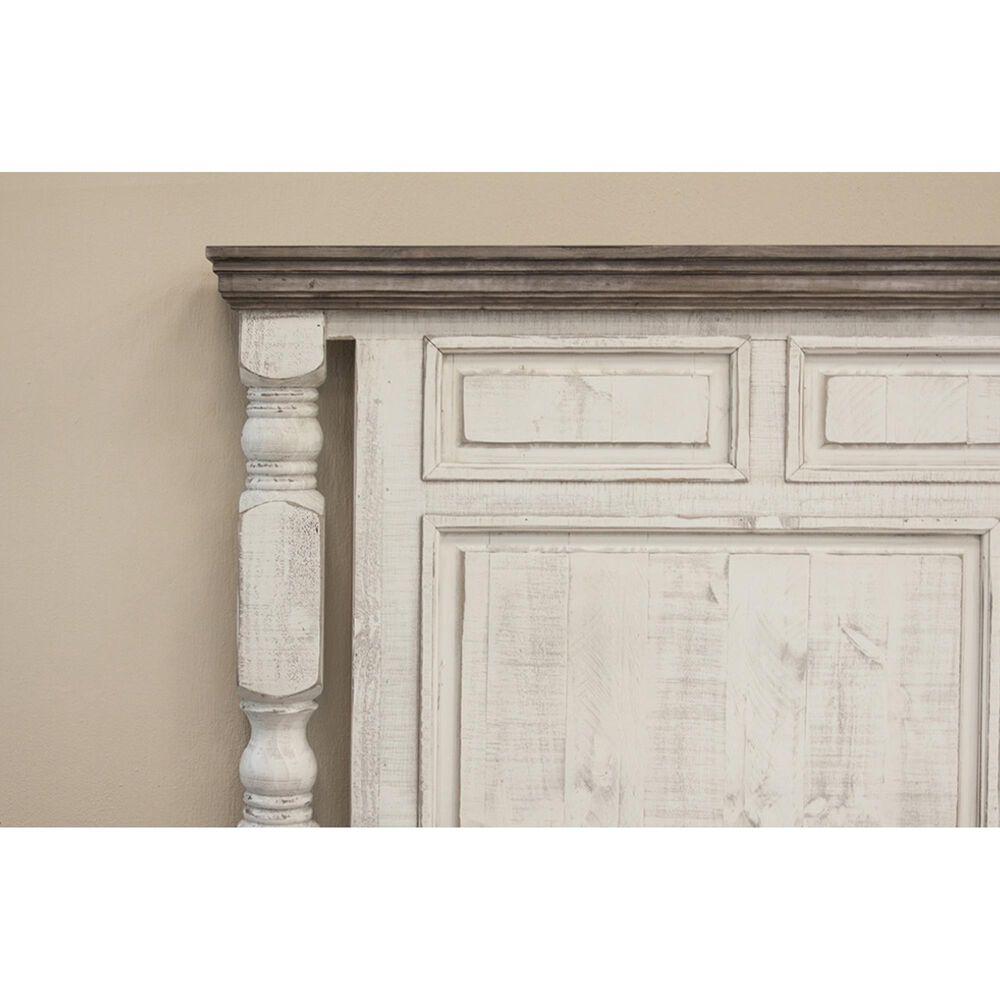 Fallridge Stone 4 Piece Queen Bedroom Set in Eggshell Antiqued, , large