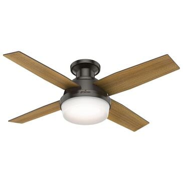 "Hunter Dempsey Low Profile with Light 44"" Ceiling Fan in Noble Bronze, , large"