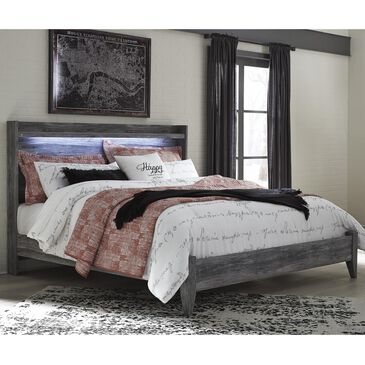 Signature Design by Ashley Baystorm Queen LED Panel Bed in Smoke Gray, , large