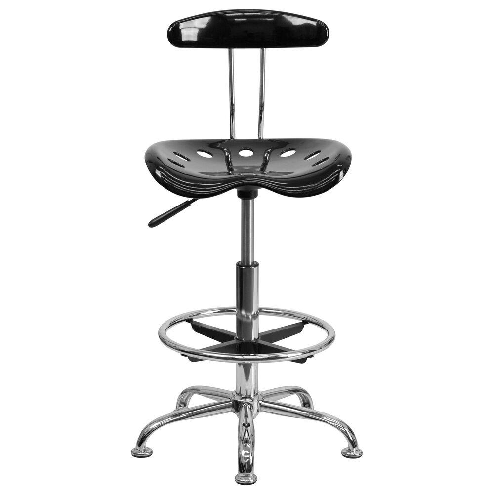 Flash Furniture Vibrant Drafting Stool in Black, , large