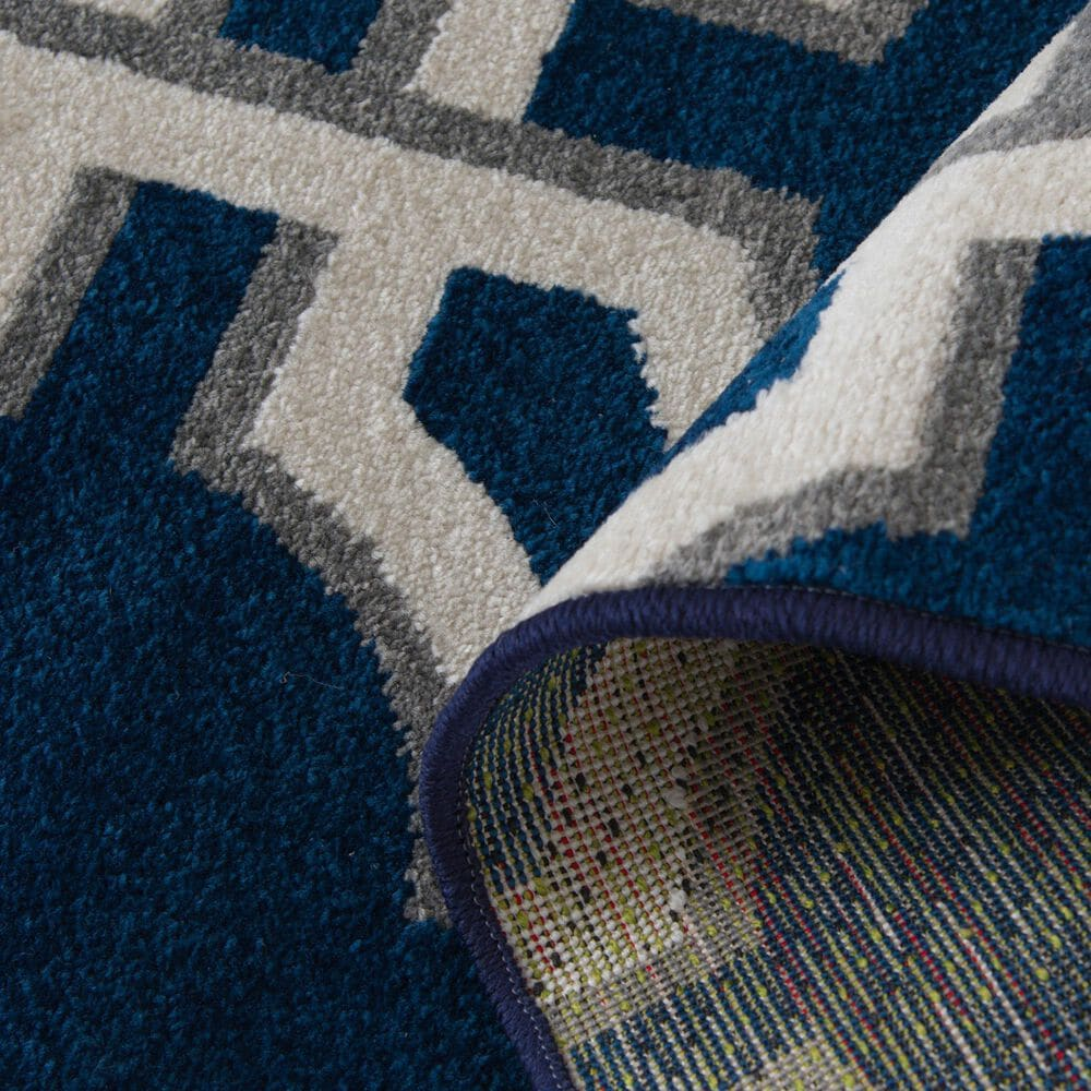 """Central Oriental Terrace Tropic Dolliver 2307PN.084 5' x 7'3"""" Sapphire and Snow Area Rug, , large"""