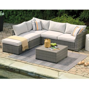 Signature Design by Ashley Cherry Point 3-Piece with Table Conversation Set in Gray, , large