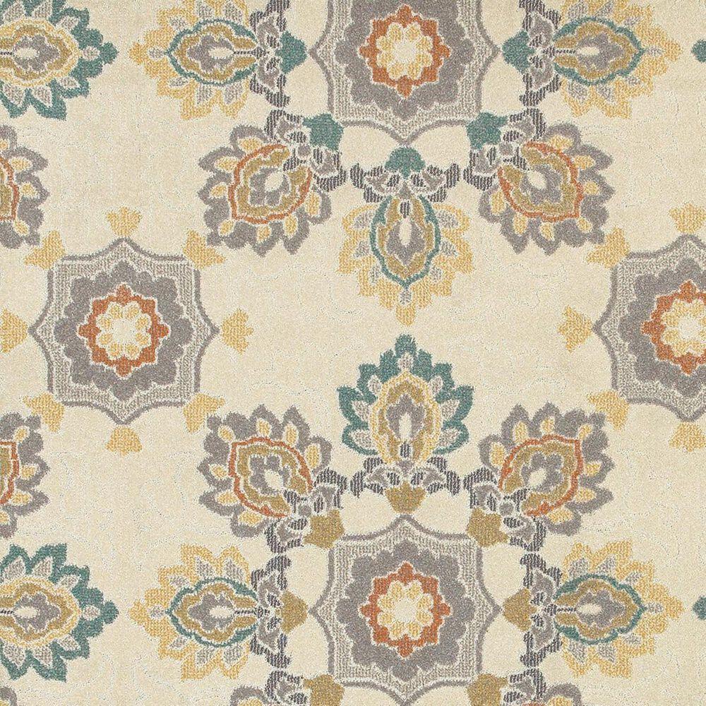 "Oriental Weavers Hampton 078W5 9'10"" x 12'10"" Ivory Area Rug, , large"
