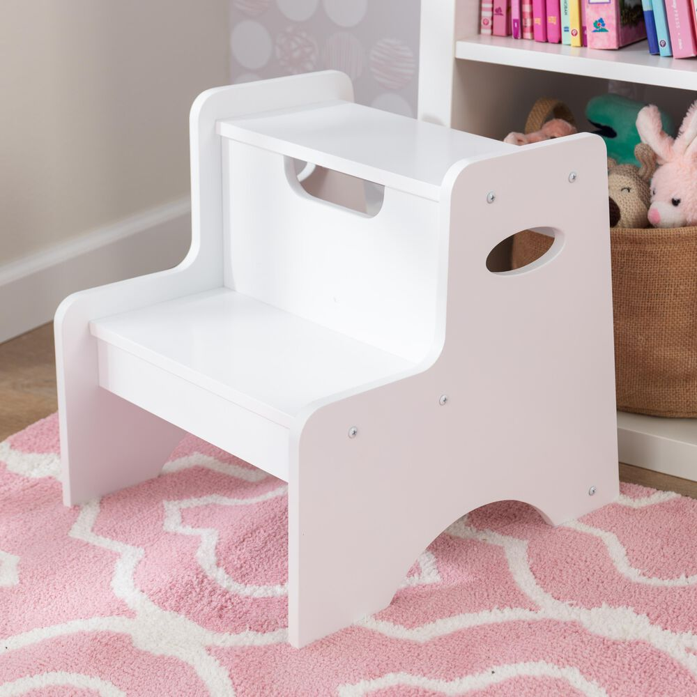 Kidkraft Two Step Stool in White, , large