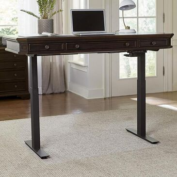 "Riva Ridge Hampton 60""Lift Desk in Black Cherry, , large"