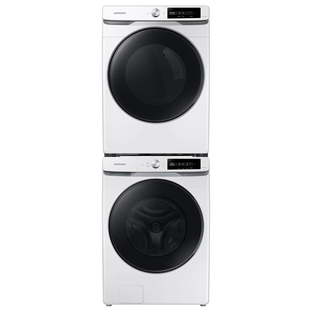 Samsung 4.5 Cu. Ft. Smart Dial Front Load Washer and 7.5 Cu. Ft. Gas Dryer in White, , large