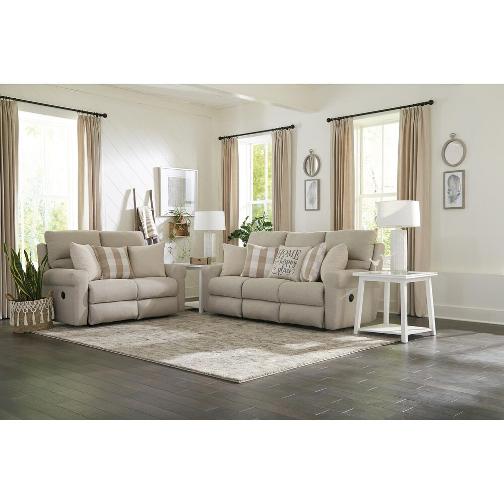 Hartsfield Westport Lay Flat Reclining Sofa in Cement, , large