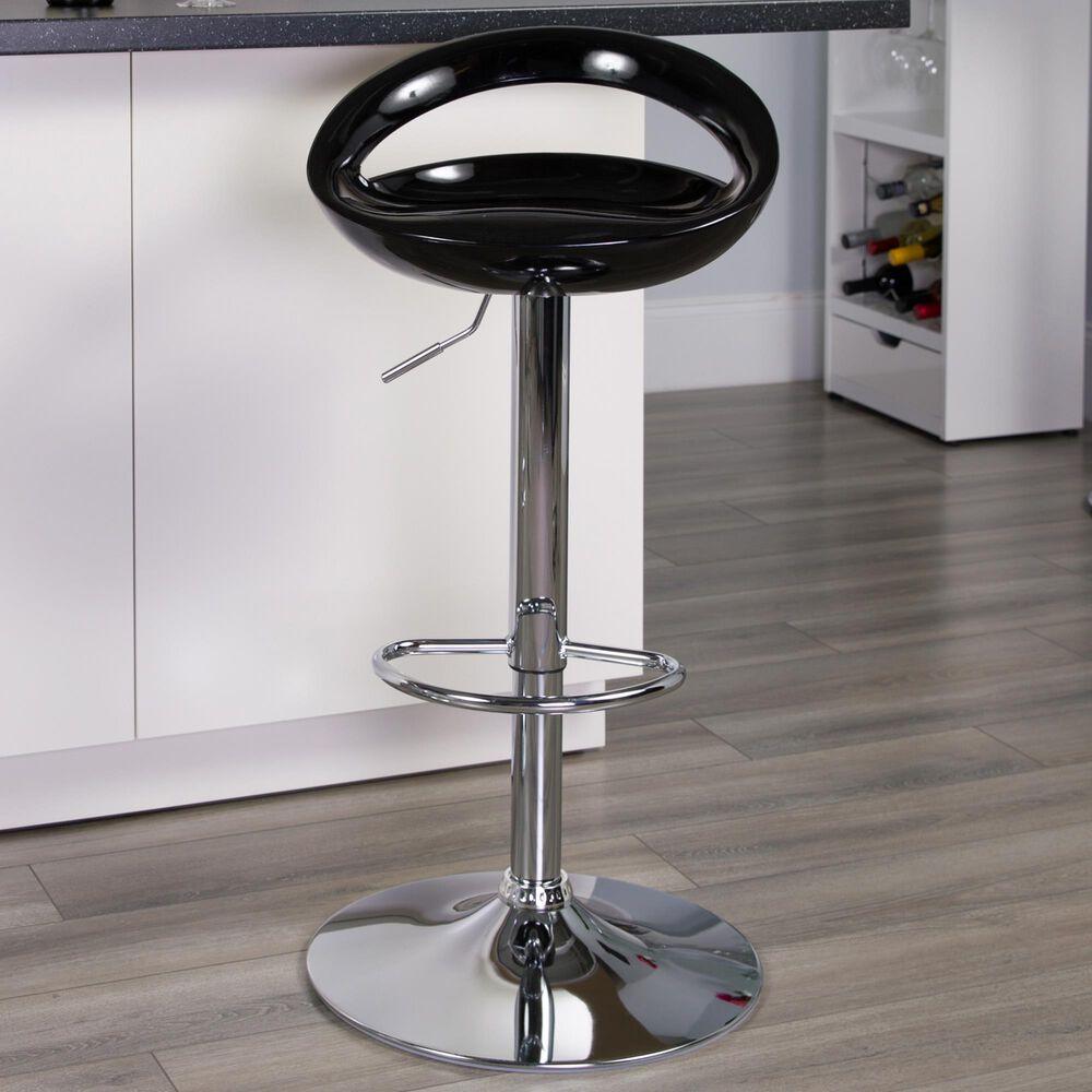 Flash Furniture Adjustable Barstool in Black, , large