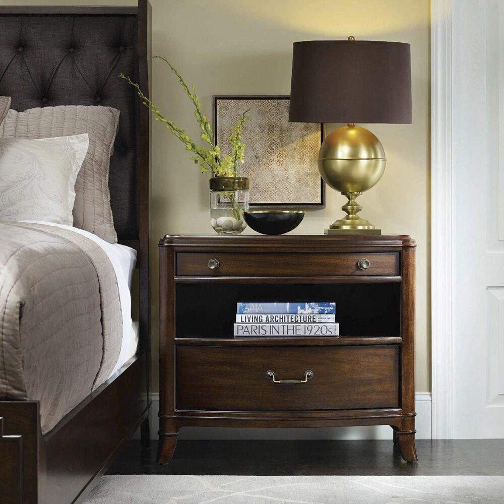 Hooker Furniture Palisade 2-Drawer Nightstand in Walnut, , large