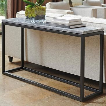 Lexington Furniture Santana Proximity Console Table in Gray and Brown, , large
