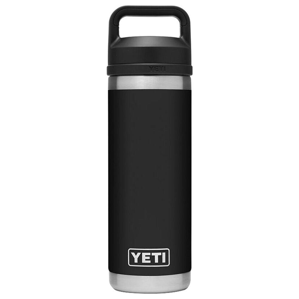 YETI Rambler 18 Oz Bottle with Chug Cap in Black, , large