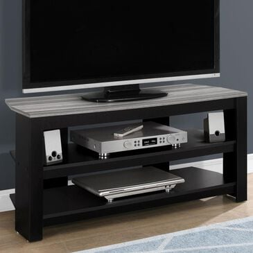 "Monarch Specialties 42"" TV Stand in Black and Grey, , large"