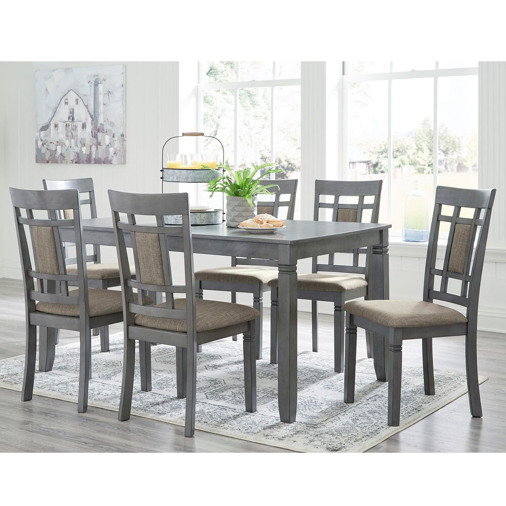 Signature Design by Ashley Jayemyer 7-Piece Dining Set in Charcoal Gray, , large